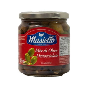 Masiello Pitted Green Olives