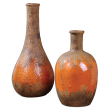 Kadam Ceramic Vases, Set of 2, Heights 30cm and 23cm
