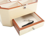 Harrowdene Stingray Timber Piano Finish Jewellery Box with Drawer, Length 27cm - Drawer