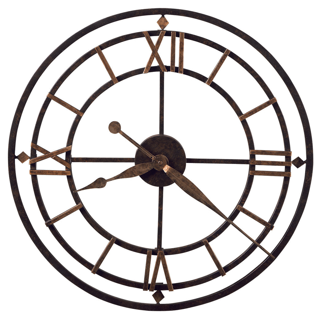 625-299_HowardMiller_York Station Antique Style Wrought Iron Quartz Wall Clock