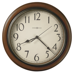 625-418_HowardMiller_Kalvin Cherry Acrylic Case Quartz Wall Clock