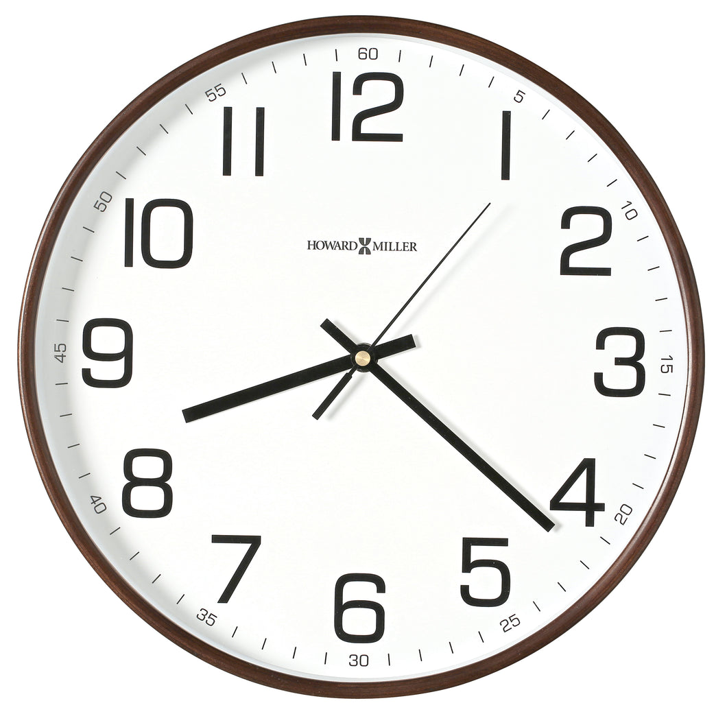 625-560_HowardMiller_Kenton Espresso Wood Frame Quartz Wall Clock
