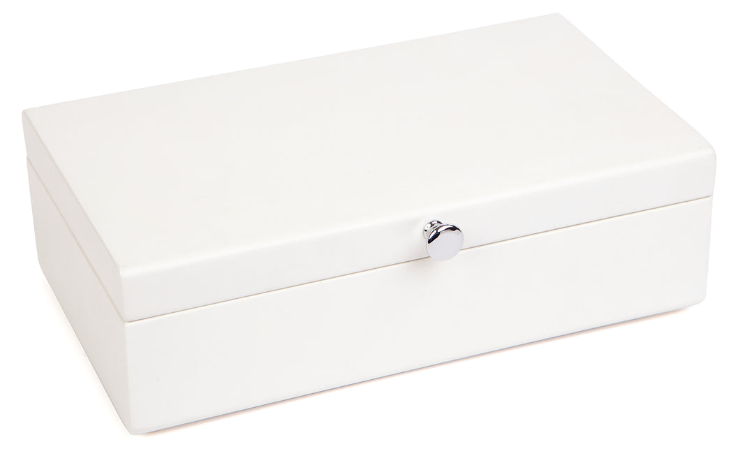 Harrowdene-Classic-Matt-Off-White-Wood-Jewellery-Box-Length-24cm-Closed