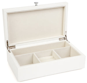 Harrowdene-Classic-Matt-Off-White-Wood-Jewellery-Box-Length-24cm-Open