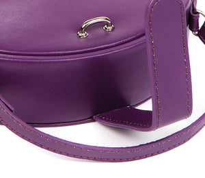 Harrowdene Violet Travel Faux Leather Jewellery Box, Length 15cm-Close-Up