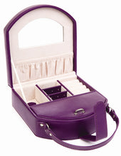 Harrowdene Violet Travel Faux Leather Jewellery Box, Length 15cm - Open