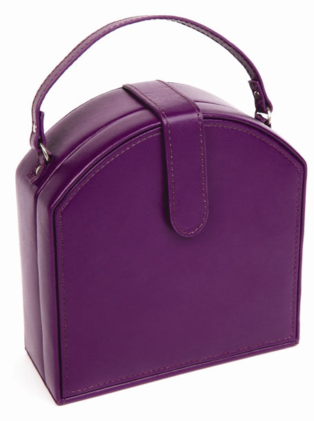 Harrowdene Violet Travel Faux Leather Jewellery Box, Length 15cm - Closed
