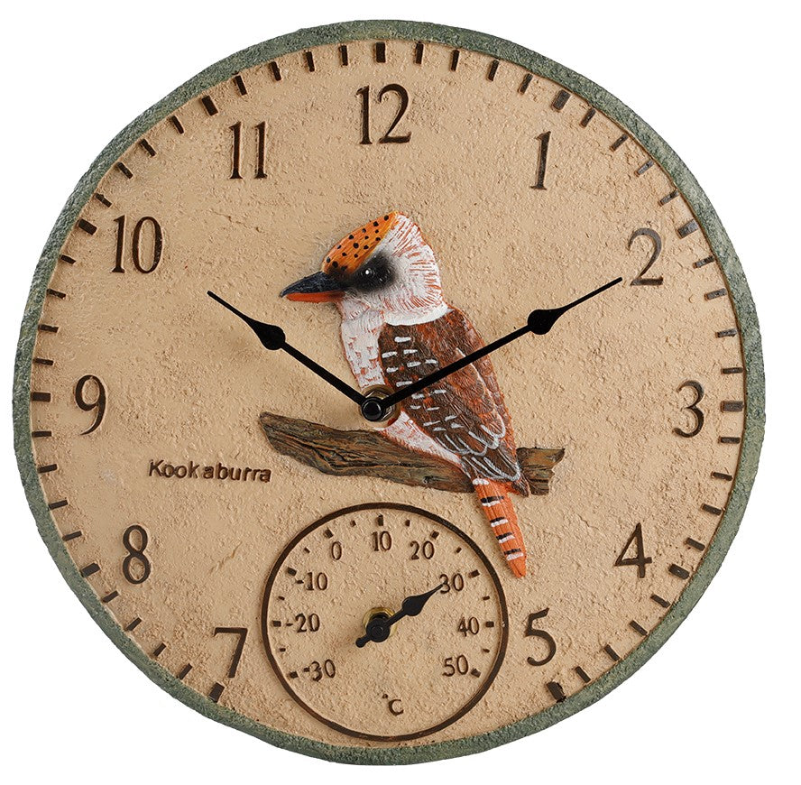 Kookaburra Outdoor Clock 30cm