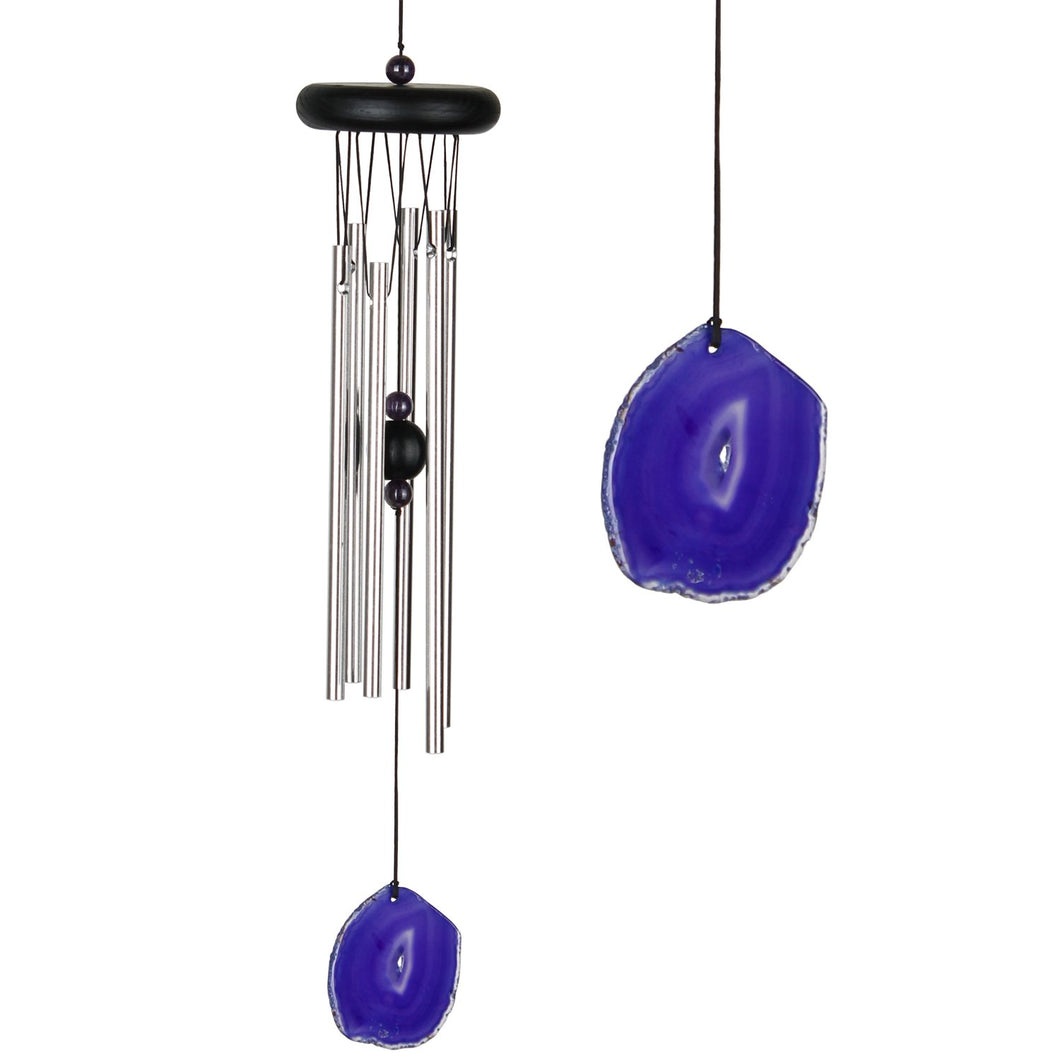 Woodstock Windchimes Agate Chime Purple