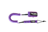 Full Coiled Leash 9' - Purple - Paddleboard_SUP_Leash_Coil_Leash_Neoprene_Cuff - VAMO - www.vamolife.com