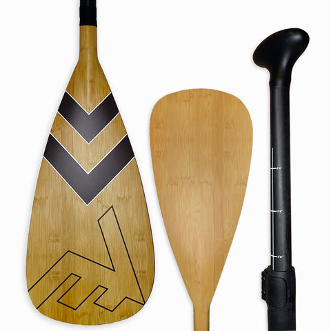 Carbon-Fiberglass Adjustable Paddle with ABS Edge  - Bamboo/Brown - SUP_Paddleboard_Paddle_V_Drive_blade - VAMO - www.vamolife.com
