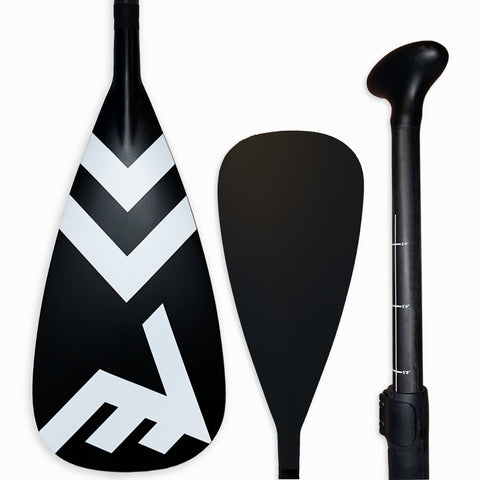 Carbon-Fiberglass Adjustable Paddle with ABS Edge  - Black - SUP_Paddleboard_Paddle_V_Drive_blade - VAMO - www.vamolife.com