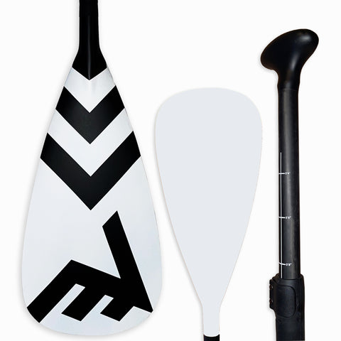 Carbon-Fiberglass Adjustable Paddle with ABS Edge  - White - SUP_Paddleboard_Paddle_V_Drive_blade - VAMO - www.vamolife.com