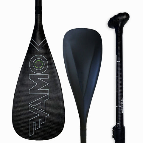 Full Carbon Adjustable Paddle with ABS Edge  - SR71 Black - SUP_Paddleboard_Paddle_V_Drive_blade - VAMO - www.vamolife.com
