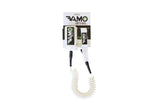Full Coiled Leash 9' - White - Paddleboard_SUP_Leash_Coil_Leash_Neoprene_Cuff - VAMO - www.vamolife.com