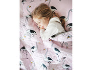 flamingo quilted coverlet
