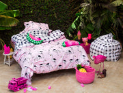 flamingo pink bedding set 2
