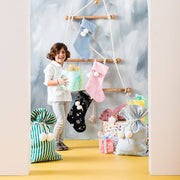 Grey Gingham Swag Sack + Christmas Stocking - Pre order for delivery mid Oct