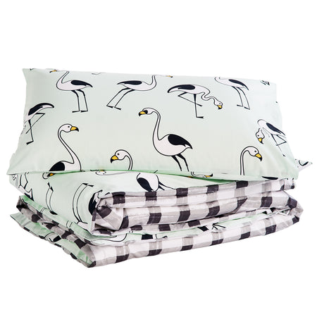 Flamingo Mint Bedding Set (Single + Double size)