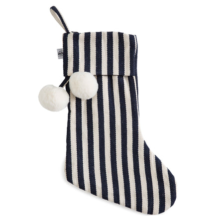 Classic French Navy Christmas Stocking