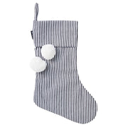 [PRE-ORDER] Pinstripe Black & White Christmas Stocking