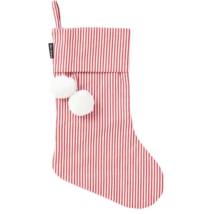 Pinstripe Red & White Christmas Stocking - Pre order for delivery in 2 weeks