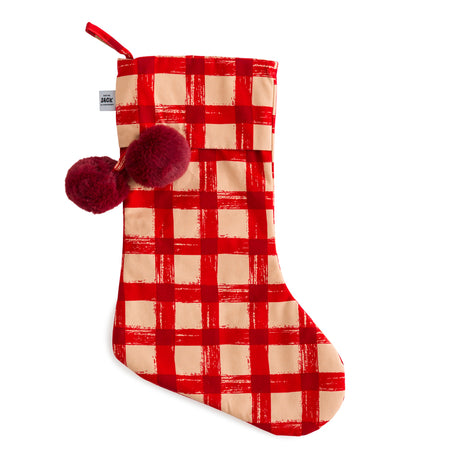 Red Gingham Christmas Stocking