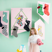 [PRE-ORDER] Green Gingham Christmas Stocking