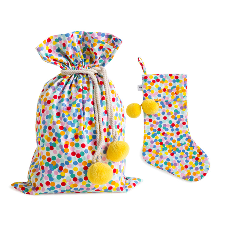 [PRE-ORDER] Confetti Swag Sack + Christmas Stocking