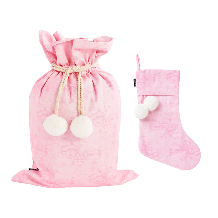 Cotton Candy Swag Sack + Christmas Stocking Set - Pre order for deliveryin 2 weeks