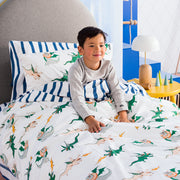 Dunkin' Dragon Quilt Cover