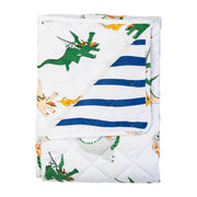 Dunkin Dragon/Navy Stripe Quilted Coverlet King Single Size