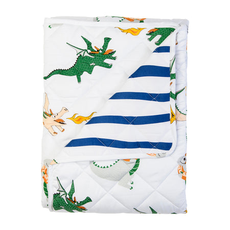 Dunkin' Dragon Quilted Cot Cover/Play Mat