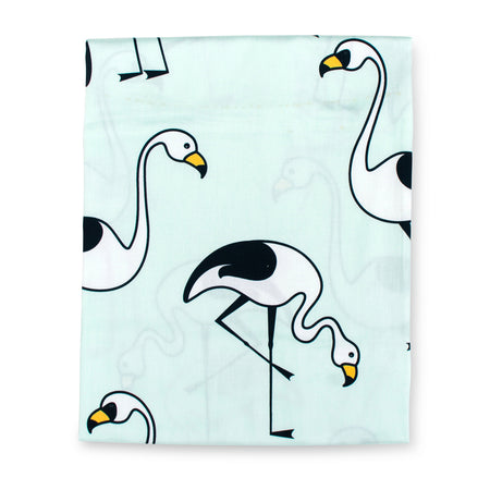 Flamingo Mint Fitted Sheet