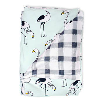 Flamingo Mint Quilt Cover