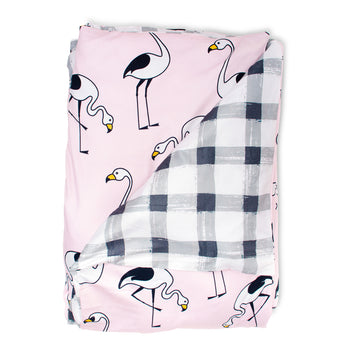 Flamingo Pink Quilt Cover