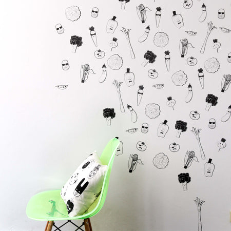 Green Mob Wall Stickers