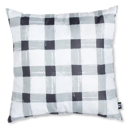 Grey Gingham Waterproof Small Cushion Cover