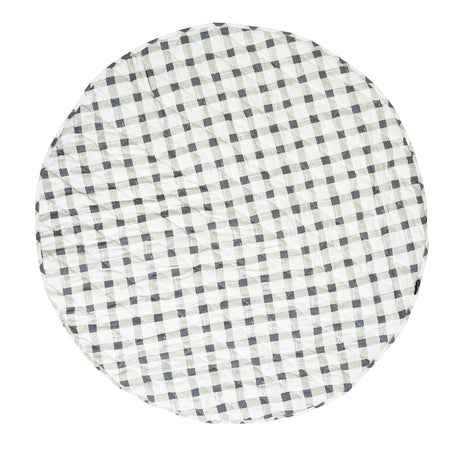 Grey Gingham Reversible Playmat