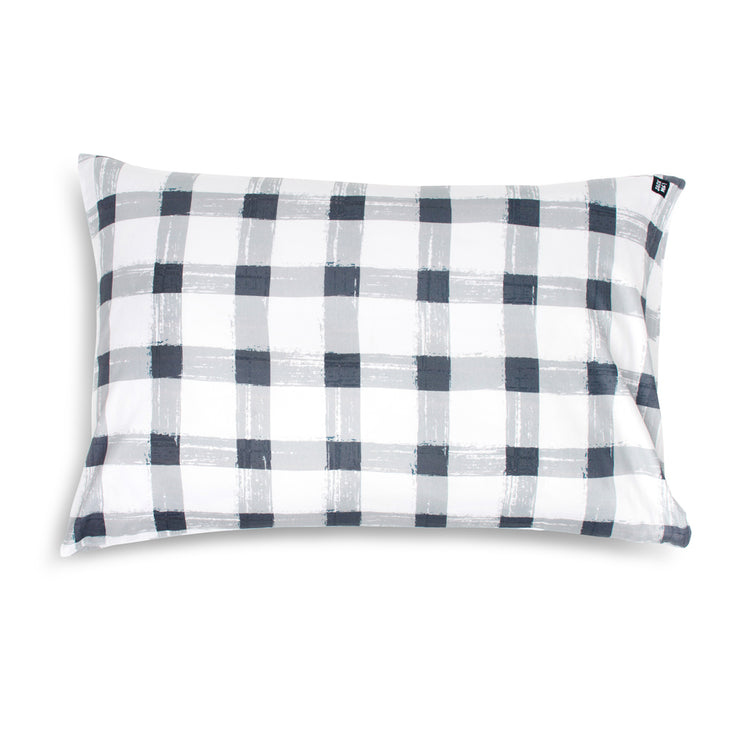 Grey Gingham Pillowcase (Set of 2) Bundle and save $10