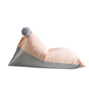 Grey/Peach Pom Pom Bean Bag Cover