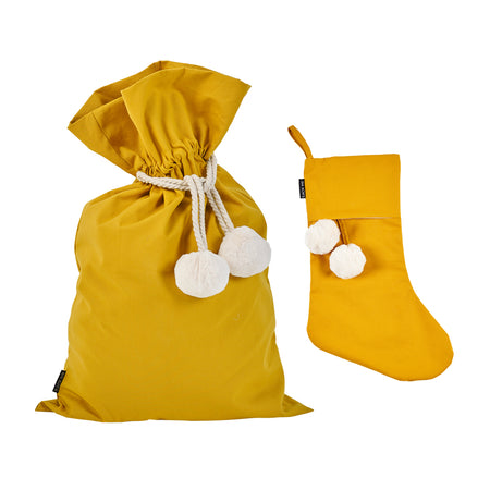Mustard Swag Sack + Christmas Stocking - Pre order for delivery mid October