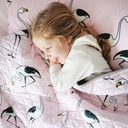 Flamingo Pink Sleeping Bag (Toddler size left)
