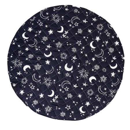 Starry Night and Solid Grey Reversible Playmat