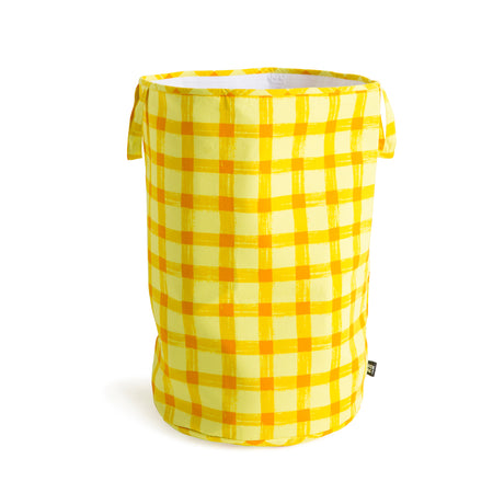 Yellow Gingham Storage Basket (Medium sizes left)