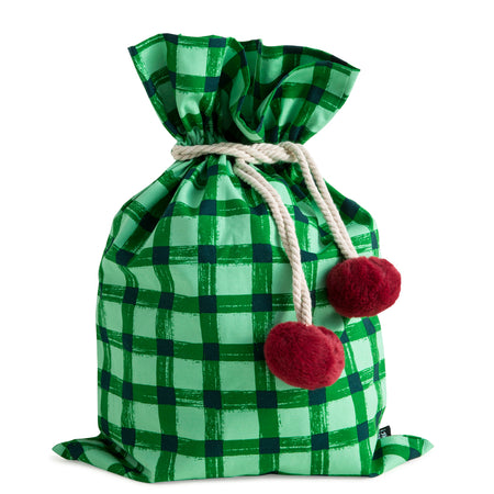 Green Gingham Swag Sack