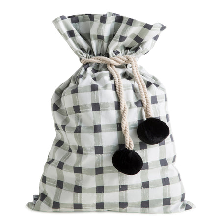 Grey Gingham Swag Sack