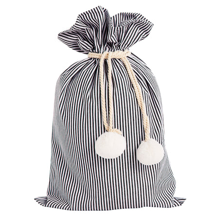 Pinstripe Black & White Swag Sack