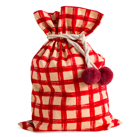 Red Gingham Swag Sack