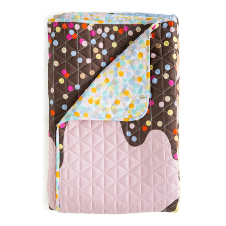 Triple Sundae Quilted Cover King Single size (suitable for single or king singe bed)